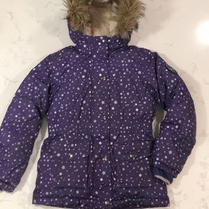 Lands End 600 Down Filled Girls used Parka . 10/12